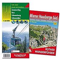 Wiener Hausberge Sued Wanderungen-Set, Wanderfuehrer + Wanderkarte 1:50.000, in praktischer Umhaengetasche