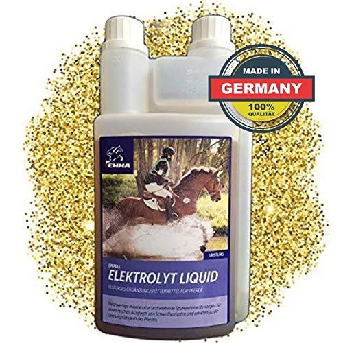 EMMA® Elektrolyten voor paarden vloeibaar I Paardenvoer I Compensatie voor mineraalverlies na diarree I Vloeibaar I Elektrolyten tekort bij sportpaarden I 1L