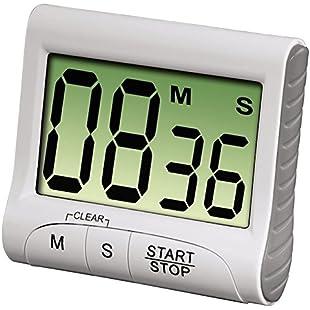 Kanggest Kitchen Timer Magnetic Digital Cooking Timer with Loud Alarm Sound Baking Reminder Countdown Women Men Girl Boy Kids Student Timer Reminder for Face Mask/ Study /Nap / Take Exercise (White)