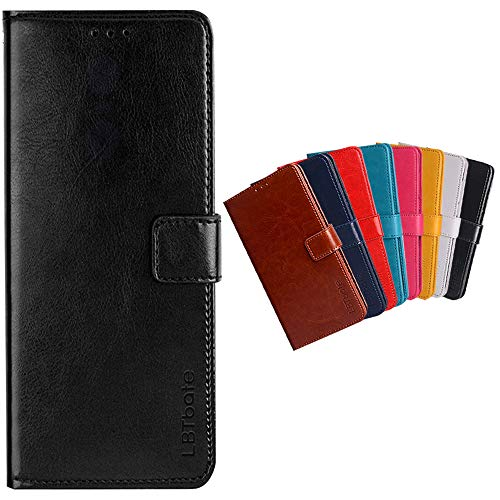 Funda para Redmi Note 9T Premium PU de Cuero de Cuerpo Completo a Prueba de Golpes Billetera con Tapa Cierre de la Cubierta para Redmi Note 9T Estuche para teléfono(Negro)