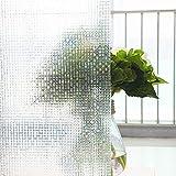 Película de Ventana con Efecto de Arco Iris 3D, Adhesivo de privacidad de Vidrio Mosaico, Adecuado para baño Familiar, Cocina, Sala de Estar, Oficina E 60x100cm