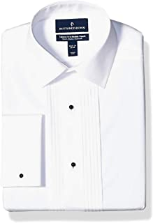 Amazon Brand - Buttoned Down Men's Tailored Fit Easy Care Bib-Front Spread-Collar Tuxedo Shirt