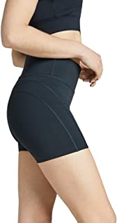 Rockwear Activewear Women's Seam Detail Mid Thigh Tight Black 14 from Size 4-18 for Mid Thigh Bottoms Leggings + Yoga Pant...