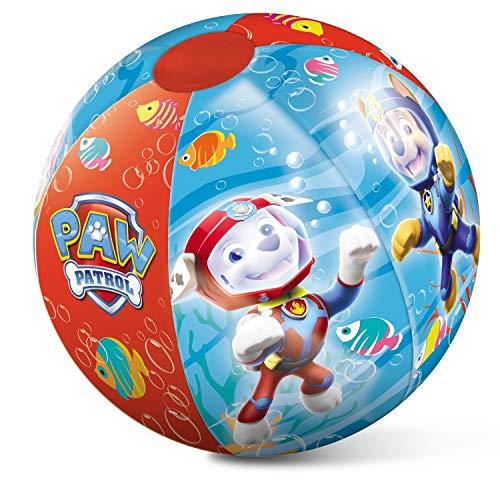 Mondo Toys - Paw Patrol Beach Ball - Pallone da Spiaggia Colorato - gonfiabile ideale per giocarci in acqua - adatto a bambini / ragazzi / adulti - 50 cm. di diametro - 16630