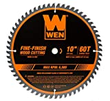 WEN BL1060 10-Inch 60-Tooth Fine-Finish Professional Woodworking Saw Blade for Miter Saws and Table Saws