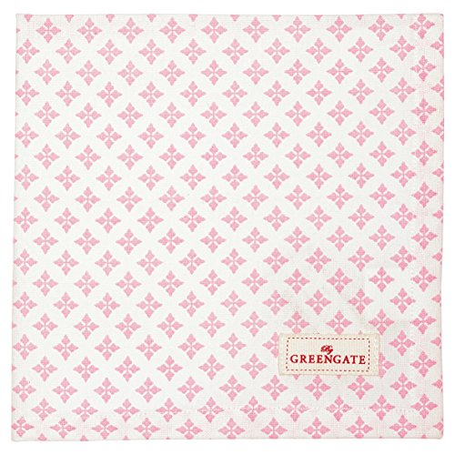 Greengate COTNAPSAS1908 Sasha Stoffserviette pale pink 40x40cm