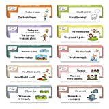 1,000 Sight Word Sentence cards with Picture + Sentence - 1,000 Fry Dolch Word Flashcards in 10-Pack Bundle Set, Pre-K to 3rd Grade, Teaches 1,000 Dolch Fry High-Frequency Sight Word Sentences
