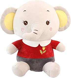 ZMDZA Elephant Plush Soft Toy, Puppet Toys, Gifts for Kids 35 cm (Color : A)