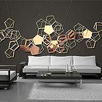 カスタム写真の壁紙3Dステレオ金属幾何学的抽象壁画壁紙リビングルーム寝室の背景の壁, 350cm×245cm