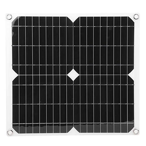 Panel solar semiflexible, panel de carga de panel solar, cargador de teléfono móvil para camping de viaje al aire libre, panel solar 25 W 5 V con mosquetón y accesorios