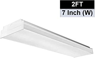 AntLux 2FT LED Wraparound Flush Mount LED Garage Lights, 20W 2400LM, 4000K Neutral White, 2 Foot LED Wrap Light, Integrated Linear Ceiling Lighting Fixture for Kitchen, Laundry, Workshop, Closet