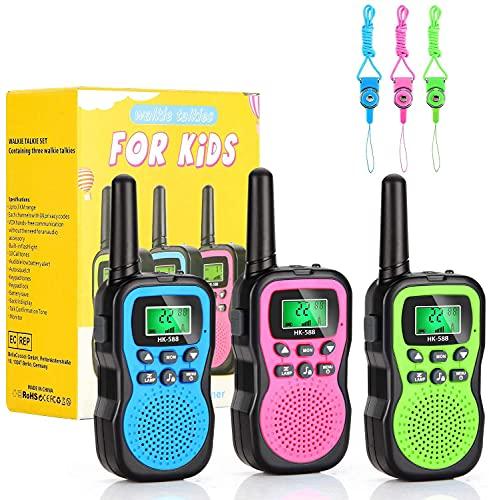 Spielzeug für 3-12 Jährige Jungen Mädche, MIBOTE Walkie Talkies Kinder Set Funkgeräte 3 km Reichweite 8 Kanäle Kinder Spielzeug
