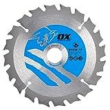 OX Wood Cutting Thin Kerf Circular Saw Blade 136/20mm, 20 Teeth ATB