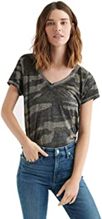 Lucky Brand womens CAMO BURNOUT TEE T-Shirt