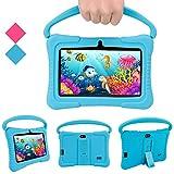 Tablet PC para niños, Tablet PC Androide Veidoo de 7 Pulgadas, 1GB / 16GB, Pantalla IPS de 1024x600, aplicación educativa, Linda Tablet PC con Funda de Silicona (Azul)
