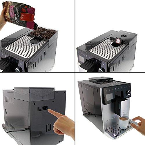 Melitta Caffeo CI Touch F630-101 Kaffeevollautomat mit Milchsystem I Flüsterleises Mahlwerk I Touch Funktion I 1,8l Wassertank I silber - 3