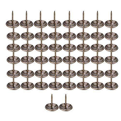 HEEPDD 50 Piezas de Tachuelas de tapicería engrosadas, Tachuelas de tapicería Antiguas, Juego de alfileres de uñas para Muebles tapizados, Tablero de Corcho o proyectos de Bricolaje(16 * 20 mm)