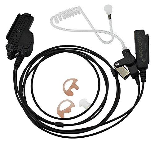 abcGoodefg Two-Wire Earpiece for Motorola XTS5000 XTS2500 XTS3000 XTS3500 XTS5000 XTS1500 HT1000 MT1500 MTS2000 MTX2000 XTS 2500 3000 3500 5000, Acoustic Tube Surveillance Headset, Kevlar Reinforced