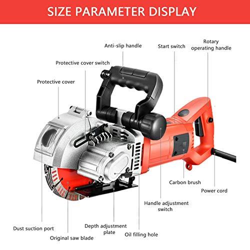PLASMARGON Wall Grooving Chaser Cutting Machine 5500W Multifunctional Cutter Electric Wall Slotting Machine 110V
