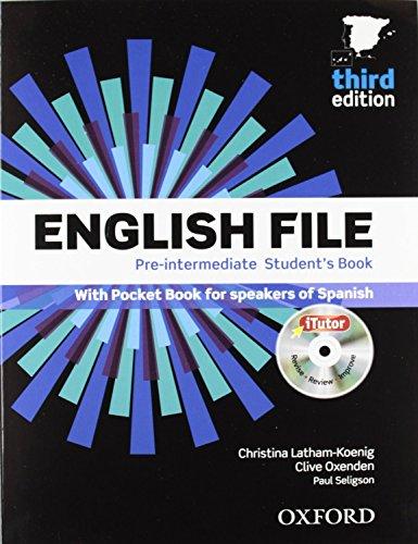 English file pre-intermediate Student´s Book + Printed