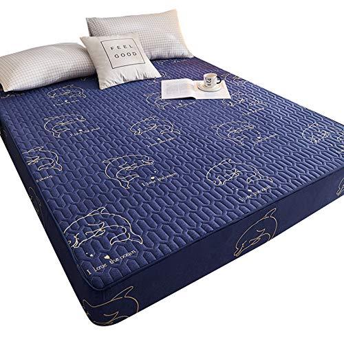 QUEENBACK - Colcha impermeable para colchón (acolchada, a prueba de polvo, acolchada), color blanco