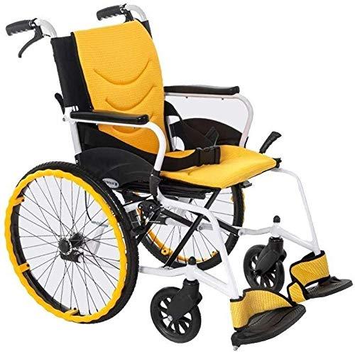 Zusammenklappbare leichte Rollstühle, robuste, langlebige Rollstühle aus Aluminiumlegierung Licht 1 Sekunde zusammenklappbar Manuell Reisen ältere Kinder behindert-Groß