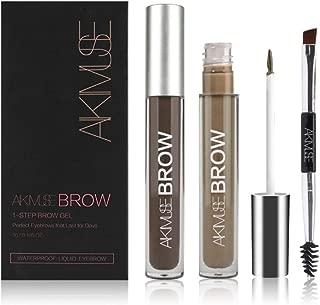 Eyebrow Gel Long Lasting Waterproof Tattoo Tint for Eye Makeup Eyebrow Enhancer With Double Heads Brush (BRUNETTE)