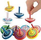 YIQI 15 peonzas giratorias para niños Estantes de Madera como Regalos para Fiestas de cumpleaños de niños o Regalos para Invitados, pequeños obsequios, Bolsas de Regalo, (Color Aleatorio)