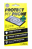 Protect My Phone Plus Ceramic Universal Liquid Glass Screen Protector with $350 Screen Replacement Warranty, Includes Patented Loss Recovery System - TagMyPhone, Works on Device