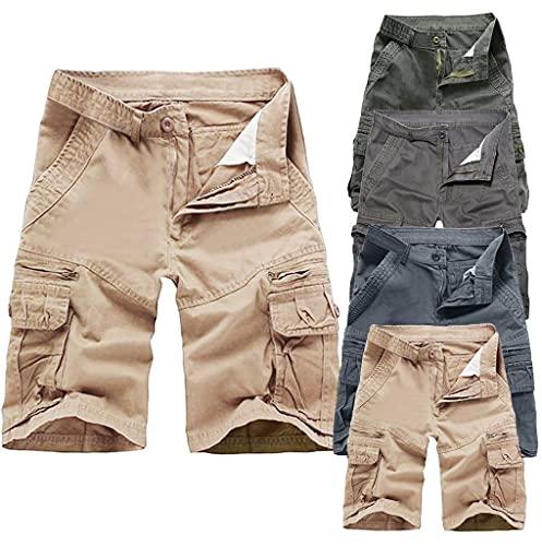 2021 Nuevo Pantalones Cortos Hombre Verano Casual Moda Trabajo Corta Pantalones Pants Deporte Jogging Pantalon Fitness Chandal Hombre Ropa de Hombre Cómodo Pantalones de Trekking Pantalones de Playa
