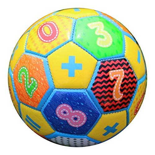 Nobranded Juego de Recreación de Pelota de Espuma Hinchable Suave para Niños de Pelota de Fútbol 6 Pulgadas - Amarillo