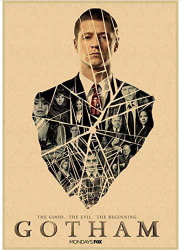 HUYUEXIN Poster su Tela Gotham TV Poster Pittura Wall Art Immagine per Camera Home Decor 50 * 70 Cm Rapporto qualità-Prezzo Senza Cornice