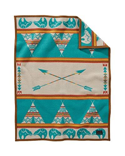 Pendleton Jacquard Muchacho Baby Blanket, Turquoise, One Size