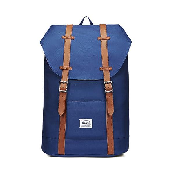 "51TRbypdyRL. SS600  - KAUKKO Mochila Casual Mochila de Estudiante Ligero 16"" Laptop Bolsa al Aire Libre para Viajar/Deporte/Cámping (Azul)"