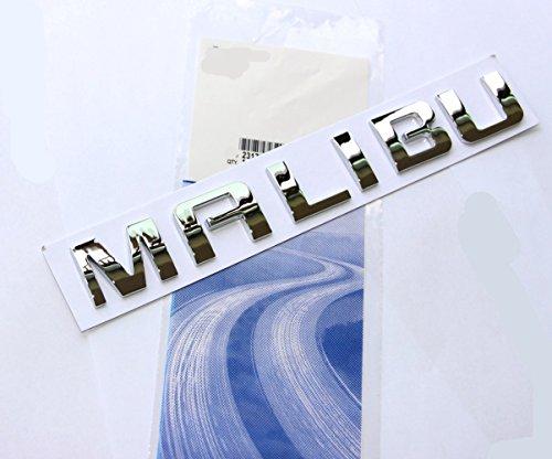 Yoaoo 1x OEM Chrome Malibu Nameplate Alloy Letter Emblem Badge Glossy for Gm Malibu