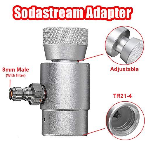 Jecenka CO2-Zylinder 8mm Sodastream Adapter auf TR21-4 aufblasbarer Stecker mit Filter
