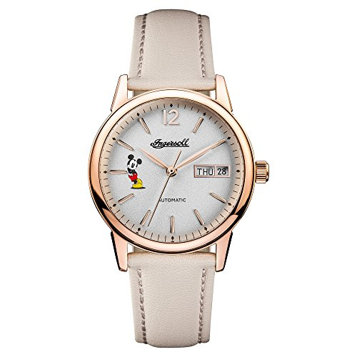Ingersoll Damen Datum klassisch Automatik Uhr mit Leder Armband ID01102