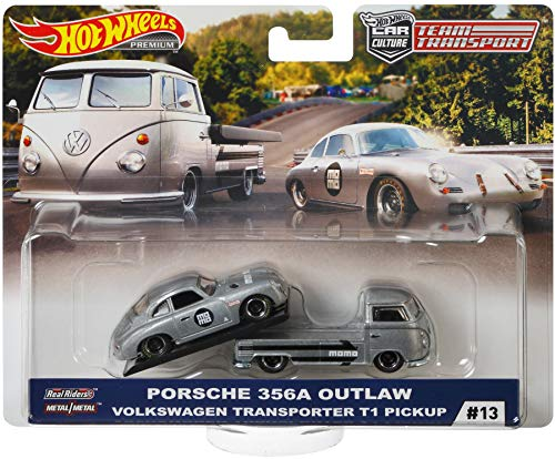 Hot Wheels Juguete Team Series Transportador Vehiculo para Niños, Volkswagen T1