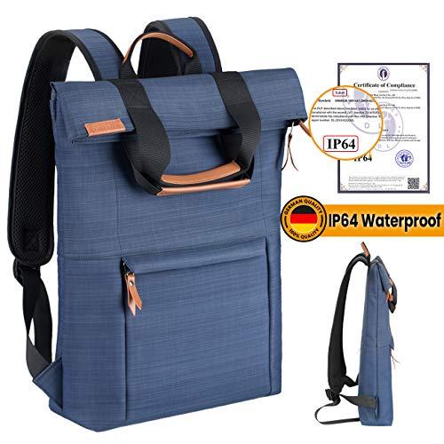 TARION Slim Laptop Backpack Lightweight Stylish School Computer Backpack IP64 Waterproof for Travel/Business/College/Women/Men Fits 15.6 Inch Laptop