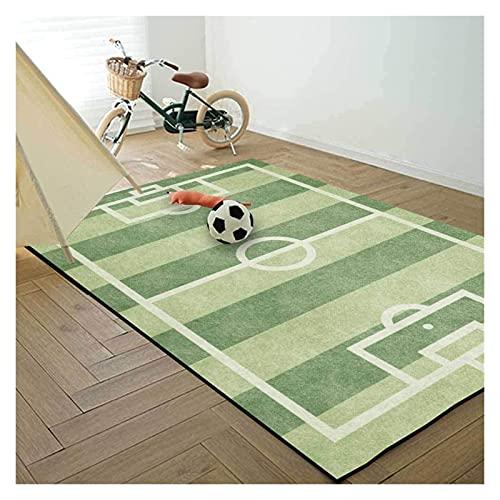 alfombra de Dibujos Animados, Moda Verde fútbol fútbol Manta para la Sala de niños, Dormitorio Cama de la cabecera Sala área Moderna Rectangular