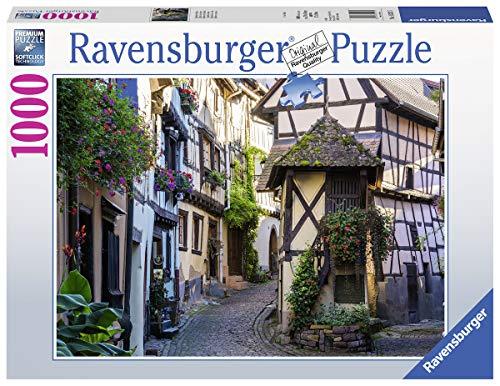 Ravensburger Puzzle 1000 piezas, Eguisheim in Alsace, Colección Fotos y Paisajes, para Adultos, Rompecabezas de calidad
