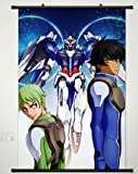 Wall Scroll Poster Fabric Painting For Anime Mobile Suit Gundam 00 Setsuna F Seiei & Ribbons Almark 036 L