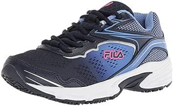 Fila Women's Runtronic Slip Resistant Running Shoe Food Service Navy/Wedgewood/deep Pink, 8