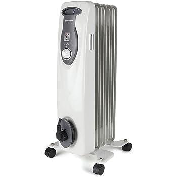Orbegozo RA 1000 E, Radiador de Aceite, Construcción Modular de 5 Elementos, 1000 W, Blanco
