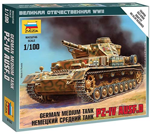 Zvezda–Z6151–Modellbau–Panzerkampfwagen IV AUSF D–Maßstab 1: 100