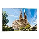 CHAOZHE Poster mit Sehenswürdigkeiten der Sagrada Familia