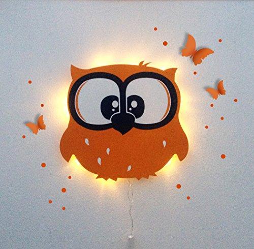ilka parey wandtattoo-welt Lampe Murale Luminaire pour Enfants répétition Lampe Lampe Chouette Emil sericealis M1215