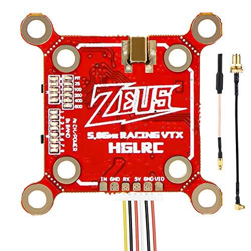 FPV Sender: HGLRC Zeus VTX 5.8GHz Built-in Microphone Switchable VTX via Betaflight for Racing Drone RC Drones Quadcopter Toothpick (SMA)