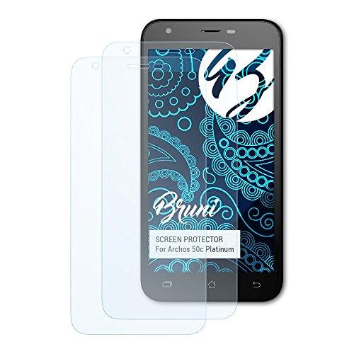 Bruni Schutzfolie kompatibel mit Archos 50c Platinum Folie, glasklare Bildschirmschutzfolie (2X)