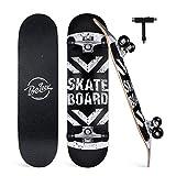 "BELEEV Skateboards for Beginners, 31""x8"" Complete Skateboard for Kids Teens & Adults, 7"